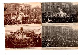 4 Cartes Carnavale Chalons Sur Saone,Chalonnais 1922 1926 1928 - Chalon Sur Saone
