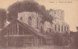 Lincent - Ruines De L'Eglise (animée, Attelage, Edit. Kaquet) - Lincent
