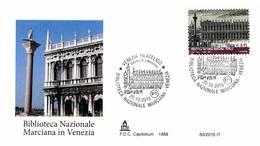 ITALIA - FDC CAPITOLIUM - ANNO 2016 - VENEZIA - BIBLIOTECA NAZIONALE MARCIANA IN VENEZIA - 6. 1946-.. Repubblica