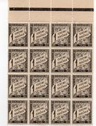 TAXE....1 CENTIME...NOIR...BLOC DE 16 TIMBRES...1881:/92...N°10 Y ET T - 1859-1955 Mint/hinged