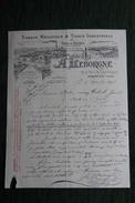 Facture  Ancienne, PROVIN, A.LEBORGNE - Tissage Mécanique De Tissus Industriels. - France