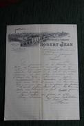 Lettre Ancienne, ST ETIENNE , Robert JEAN, Manufacture De Fourneaux. - France