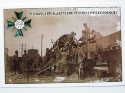 German Canon 96n/A  / 3 Field Artillery  Regiment /  Poznan Foto 1919 Year /  Poland Army 1918-39 / Reproduction - Materiale