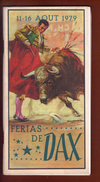 Programme Fete De Dax Ferias 1979 - Programmes