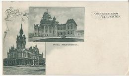 Galveston Masonic Temple And Ball High School Temple Franc Maçonnerie  Dos One Cent Jefferson - Galveston