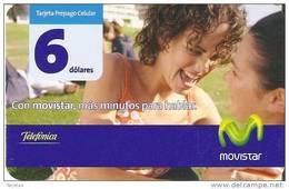 TARJETA DE ECUADOR DE MOVISTAR DE 6$  2 CHICAS - Ecuador
