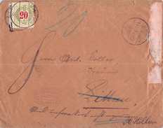 SUISSE - LETTRE LUZERN 1891 - Taxe