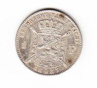 BELGIUM MORIN CAT N° 179a UNC 1887 (A72) - 07. 1 Franc