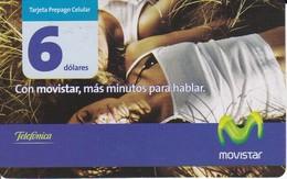TARJETA DE ECUADOR DE MOVISTAR DE 6$  2 CHICAS ESTIRADAS - Ecuador