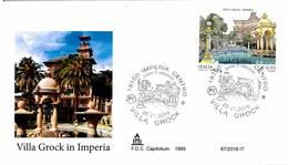 ITALIA - FDC CAPITOLIUM - ANNO 2016 - IMPERIA - VILLA GROCK - 1946-.. Republiek