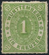 Stamp Wurttemberg 1859-73 1kr Mint Lot125 - Wuerttemberg