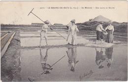 44 - LE BOURG-DE-BATZ (L.-Inf.) - Au Marais - Une Visite Au Saline - 1909 - Batz-sur-Mer (Bourg De B.)
