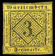 Stamp Wurttemberg 1851-52 3kr Used Lot10 - Wuerttemberg