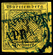 Stamp Wurttemberg 1851-52 3kr Used Lot13 - Wurttemberg