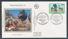 1994 Env 1er Jour Philexjeunes - Grenoble - FDC