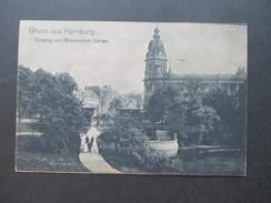 AK Gruss Aus Hamburg. Eingang Zum Botanischen Garten. K.W.H. Nr. 8 Echter Kupfertiefdruck! - Gruss Aus.../ Grüsse Aus...