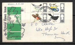 GB BRITISH BIRDS 1966 FDC - FDC