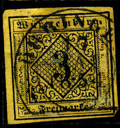 Stamp Wurttemberg 1851-52 3kr Used Lot35 - Wurttemberg