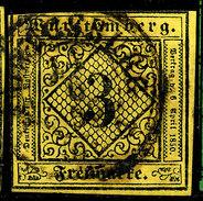 Stamp Wurttemberg 1851-52 3kr Used Lot37 - Wurttemberg