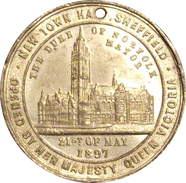 INGLATERRA. MEDALLA JUBILEO 60 ANIVERSARIO REINA VICTORIA. 1.897. GREAT BRITAIN MEDAL - Monarchia/ Nobiltà