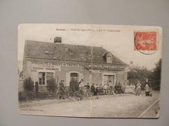 A408. CPA. 72..ARNAGE. Hotel Du Soleil D'Or. Tenu Par M.MAILLARD.  Beau Plan Animé. écrite & Voyagée 1914 - Otros Municipios