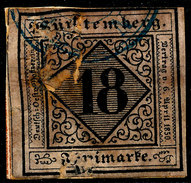 Stamp Wurttemberg 1851-52 18kr Used Lot68 - Wurtemberg