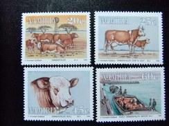 NAMIBIA NAMIBIE 1993 FAUNA Centenario De La Primera Importacion De Vacuno De Europa Yvert 695 / 98 ** MNH - Namibia (1990- ...)