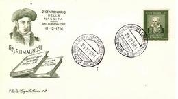 """Fdc """"Capitolium"""" : ROMAGNOSI 1961;  No Viaggiata; A_Salsomaggiore T. - F.D.C."""