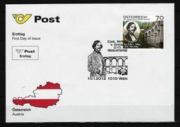 ÖSTERREICH - FDC Mi-Nr. 2973 - 210. Geburtstag Von Karl Ritter Von Ghega - FDC