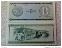 Billete Cuba. 5 Pesos. Serie B. Certificado De Divisa.  Banco Nacional De Cuba. - Cuba