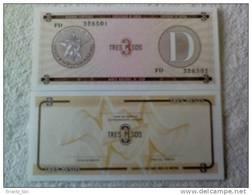 Billete Cuba. 3 Pesos. Serie D. Certificado De Divisa. Banco Nacional De Cuba. - Cuba