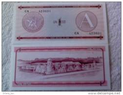 Billete Cuba. 1 Peso. Serie A. Certificado De Divisa. Banco Nacional De Cuba. - Cuba
