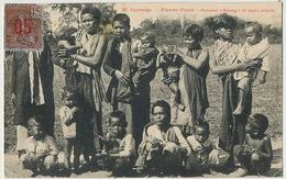 """50 Cambodge Phnom Penh Femmes """" Khong """" Et Leurs Enfants Edit Poujade De Ladevèze Timbrée Saigon 1913 - Cambodia"""