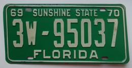 Plaque D'immatriculation - USA - Etat De Floride 1969-70 - - Plaques D'immatriculation