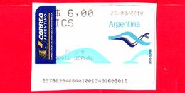 ARGENTINA - Usato - 2010 - ATM - Correo Argentino - ICS - Bernal - 6.00 - Affrancature Meccaniche/Frama