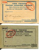N°123 M -cartes Ligue Féminine D'action Catholique Française- - Vieux Papiers