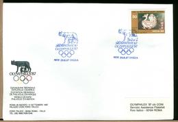 INDIA - Esposizione Mondiale Filatelia Olimpica - OLYMPHILEX ´87 - Lotta