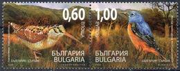 Bulgaria 2009 Fauna, Birds, Ecology, Joint Issue With Serbia, Scolopax Rusticola, Monticola Saxatilis, Set MNH - Vögel