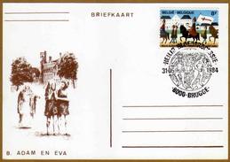 2090 Bloedprocessie Brugge Adam En Eva - Brieven En Documenten