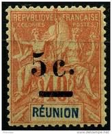 Reunion (1901) N 52 * (charniere) - Réunion (1852-1975)