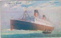 "Ferryboat  ""HOMERIC""(34351 T)-White Star Line - Unused - Around 1940 - Piroscafi"