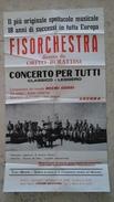 Manifesto Cm. 40 X 70 Ca. Della FISORCHESTRA Diretta Da O. Burattini Con Noemi Gobbi - Ancona - Manifesti & Poster