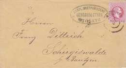 ÖSTERREICH 1870? - 5 Kreuzer Auf Brief, Stempel Wiclitz Gräfl.Westphäl.Bergdirection, Rückseitiger Stempel 1.Ausgabe ... - Covers & Documents