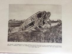 Photos Allemandes Recto Verso - 29 Tank Anglais Détruit - Route De Cambrai Péronne Tank Retourné - 1914-18