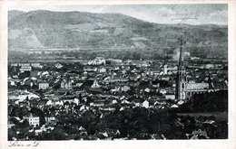 LINZ A.d.Donau - Panorama, Gel.1924, 500 Kronen Marke, Eckknick - Linz