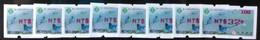 Set Of 8 Red Imprint Taiwan ATM Frama -PHILATAIPEI 2016 World Stamp Exhi. - Blue Magpie Bird Unusual