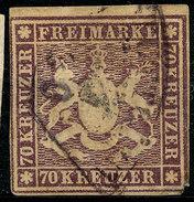 Stamp Wurttemberg 1873 70kr  Used Lot44 Certefikate - Wuerttemberg