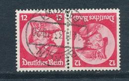 Deutsches Reich Zusammendruck K 18 Gestempelt Mi. 40,- - Se-Tenant