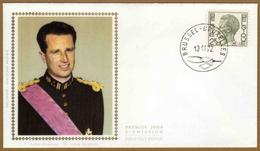 Enveloppe Cover Brief FDC Soie 1er Jour Elstrôm M3 Roi Baudouin - Militaires (Timbres M)