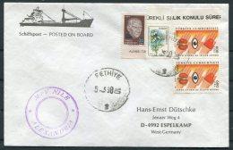1990 Turkey Ship Cover. Fethiye M/V NILE Alexandria Egypt - 1921-... République